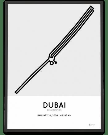 2020 Dubai marathon course poster
