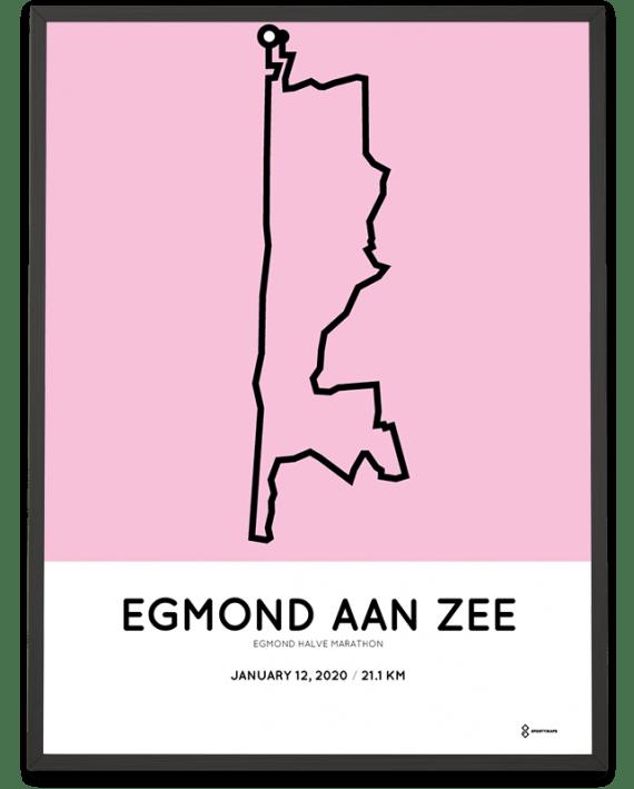 2020 Egmond halve marathon route poster sportymaps