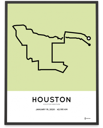 2020 Houston marathon course poster