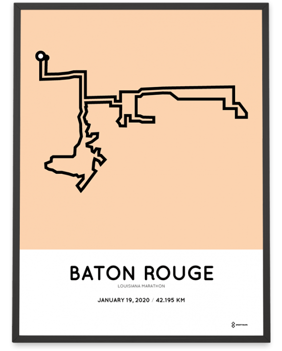 2020 Louisiana marathon course poster