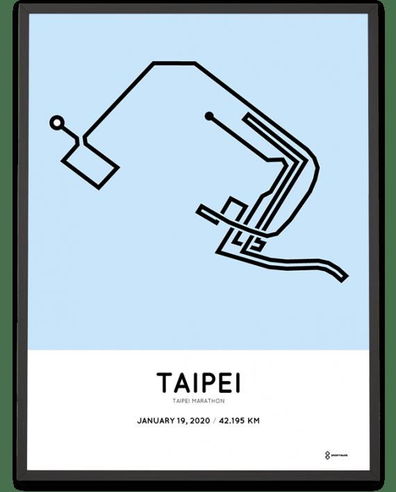 2020 Taipei marathon sportymaps course poster