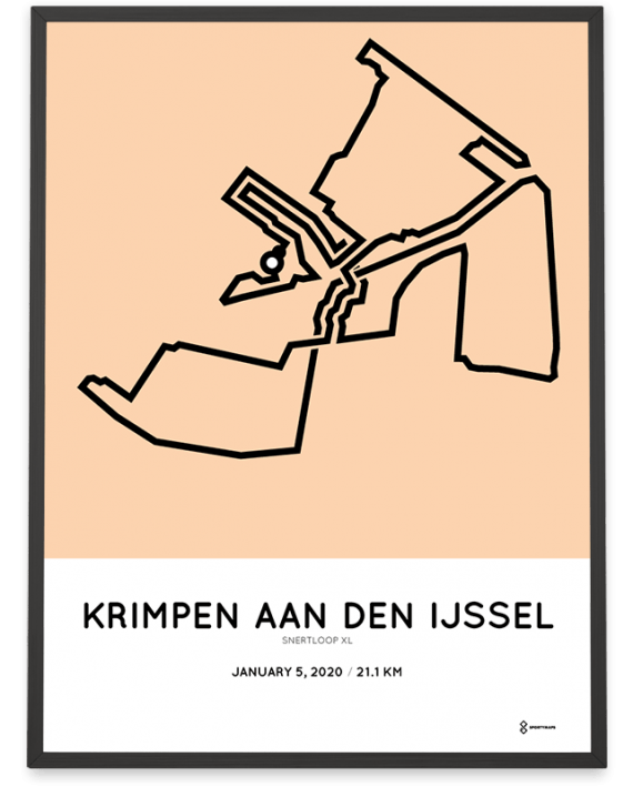 2020 Snertloop XL Krimpen parcours poster