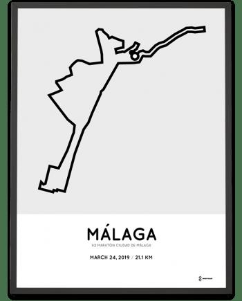 2019 Malaga half marathon course poster