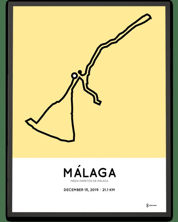 2019 Media Maraton de Malaga course poster