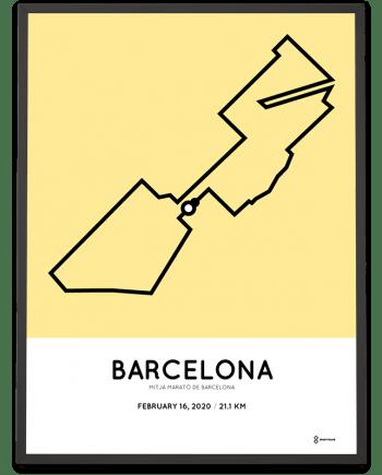 2020 Mitja Marato de Barcelona sportymaps course poster