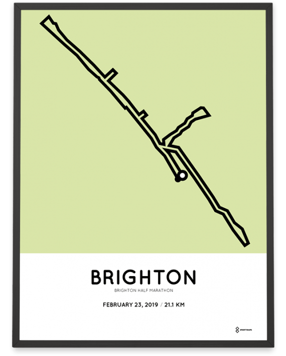2020 Brighton half marathon course poster