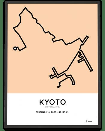 2020 Kyoto marathon sportymaps print