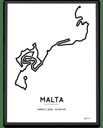2020 Malta marathon racetrace print
