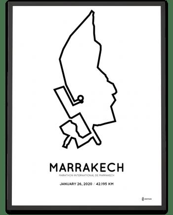 2020 Marrakech marathon parcours print