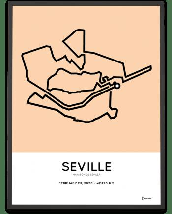 2020 Seville marathon sportymaps course poster