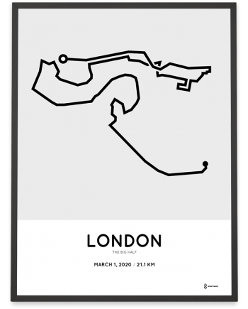2020 The big half London course poster