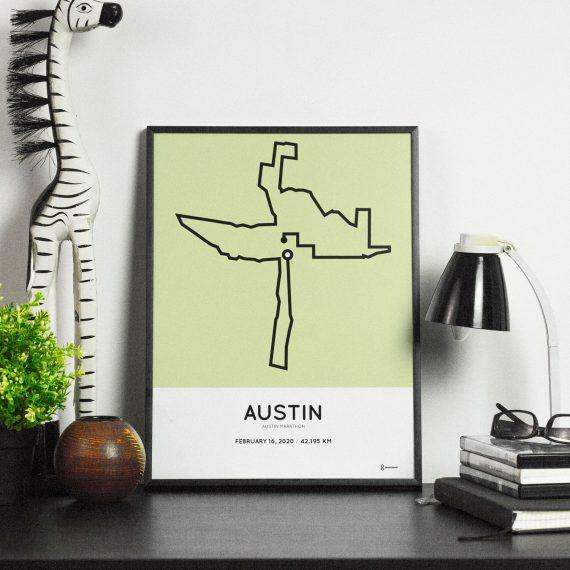 2020 Austin marathon texas course print