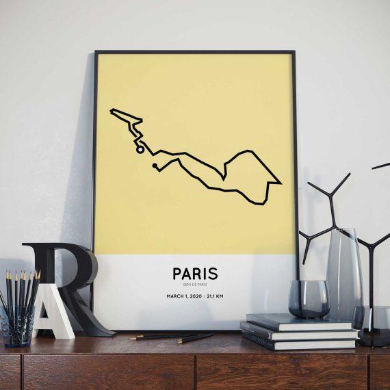 2020 Semi de Paris route poster