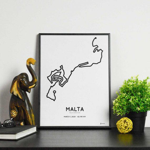 2020 maltamarathon coursemap poster