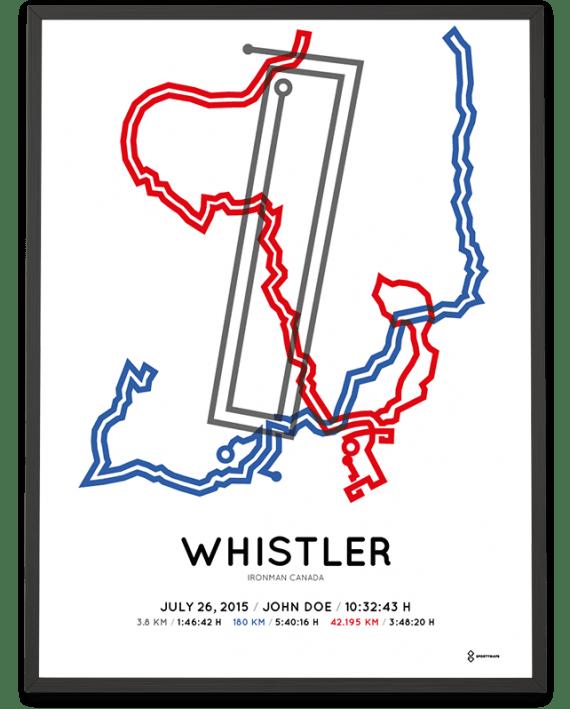 2015 Ironman Canada whistler sportymaps print