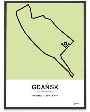 2019 Polmaraton Gdansk course poster