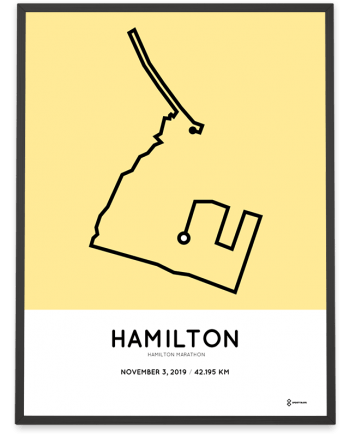 2019 Hamilton Road2hope marathon course poster