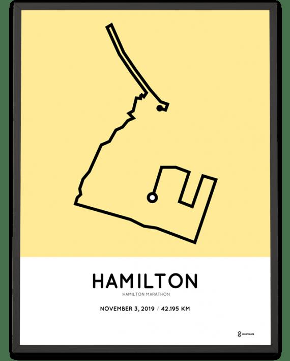 2019 Hamilton Road2hope marathon course poster