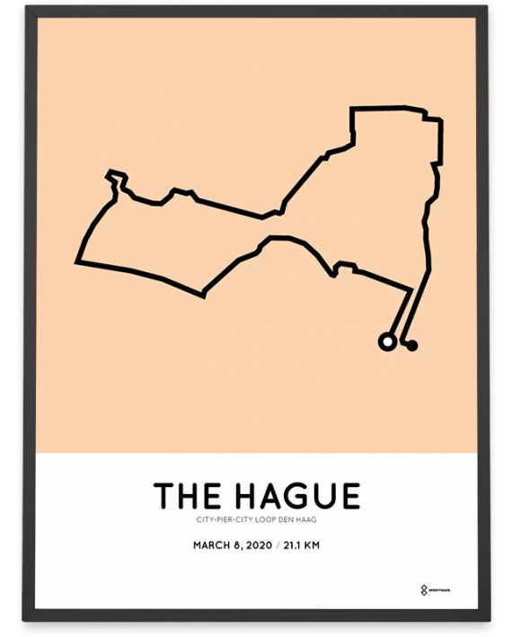 2020 CPC loop den haag sportymaps route poster