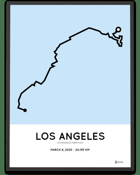 2020 Los Angeles marathon course poster