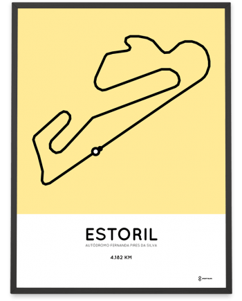 Circuito do Estoril track poster