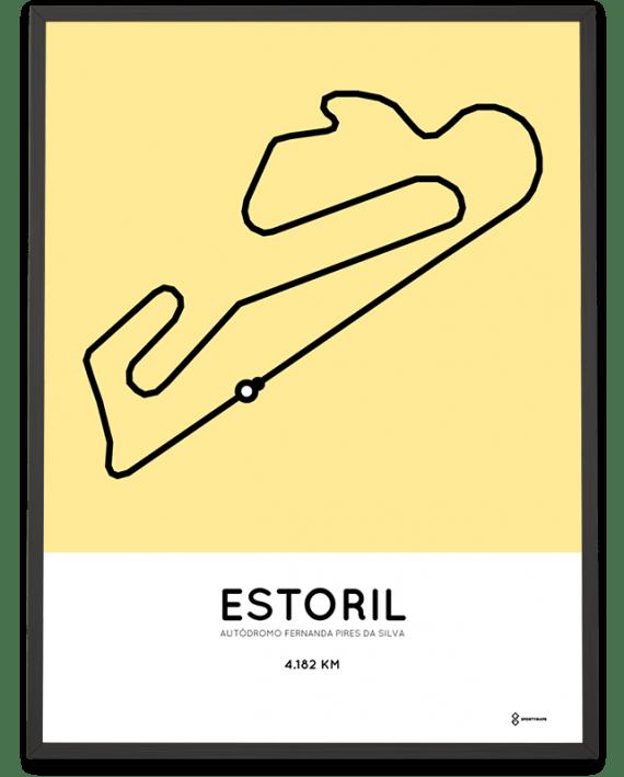 Circuito do Estoril track poster