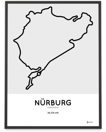 Nürburgring nordschleife parcours sportymaps print