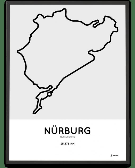 Nürburgring nordschleife parcours sportymaps print