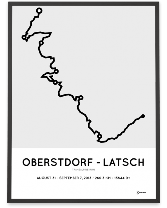 2013 Transalpine-Run course poster