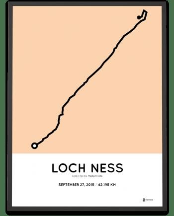 2015 Loch Ness marathon racetrace poster