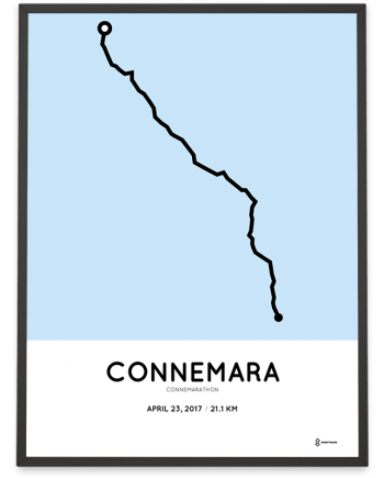 2017 Connemara half marathon racetrace print