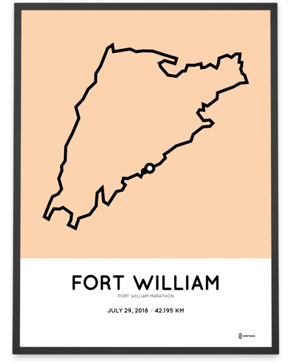 2018 fort william marathon course poster