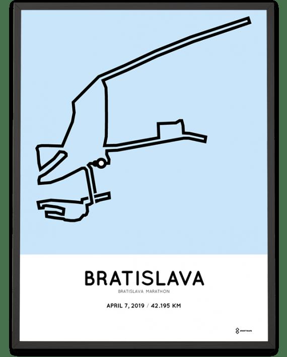 2019 Bratislava marathon course poster sportymaps