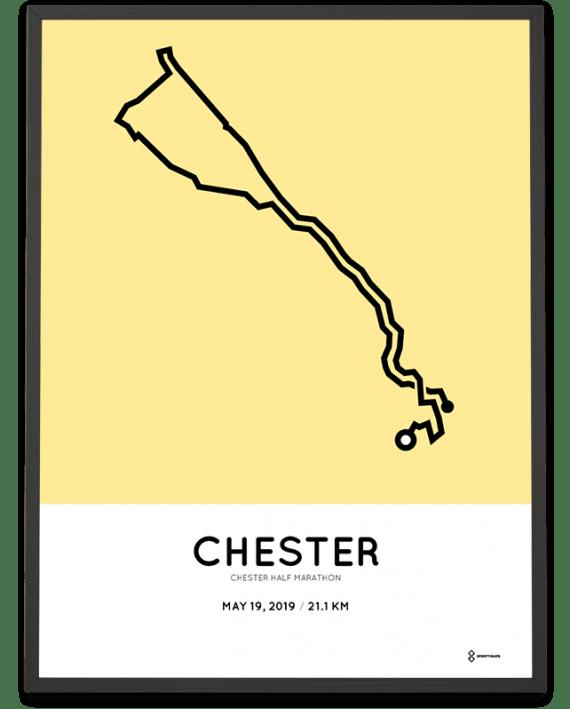 2019 Chester half marathon map print