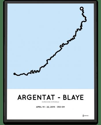 2019 Dordogne Integrale 350km parcours print
