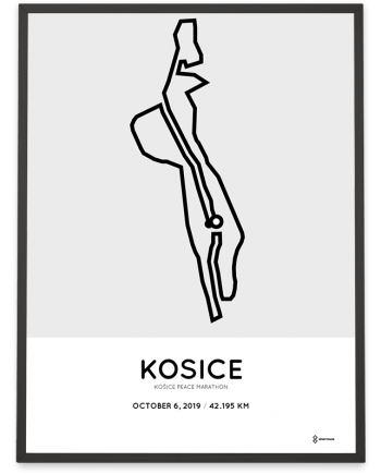 2019 Kosice Peace marathon routemap poster