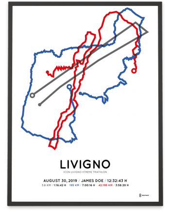 2019 icon livigno xtreme triathlon course poster