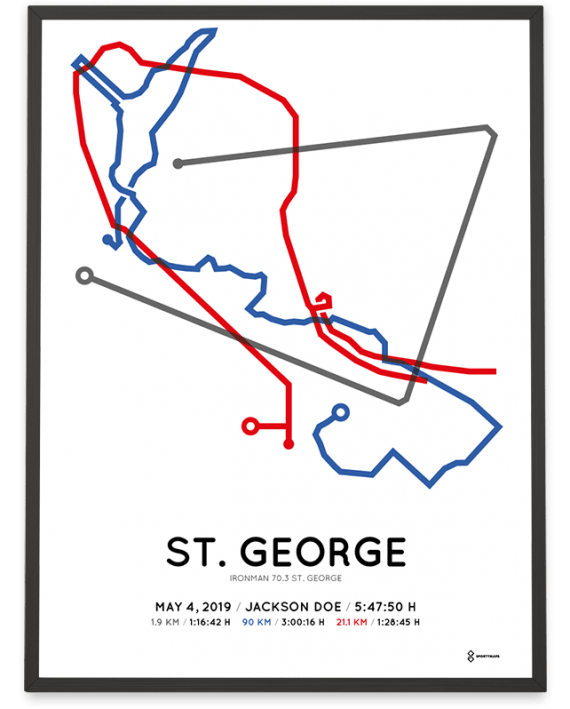 2019 ironman 70.3 st. george course poster