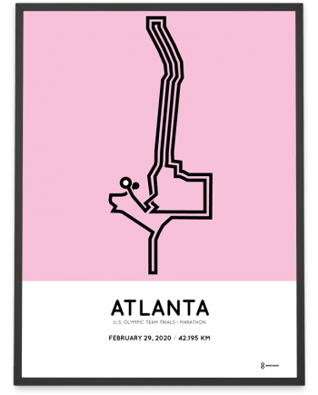 2020 US Olympic Team Trials Marathon atlanta course poster