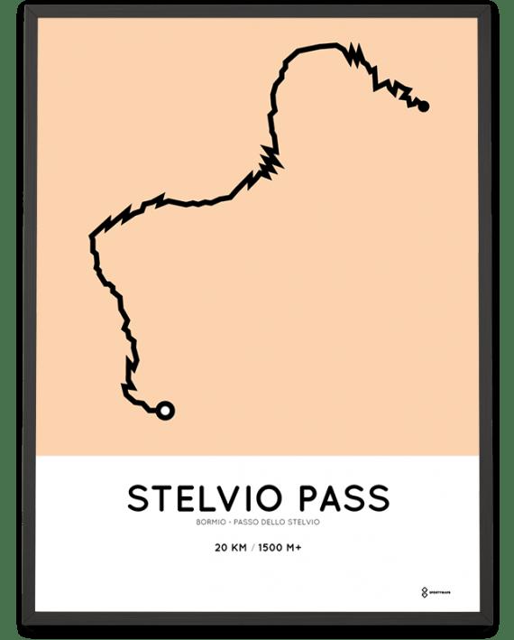 Stelvio Pass Bormio course print