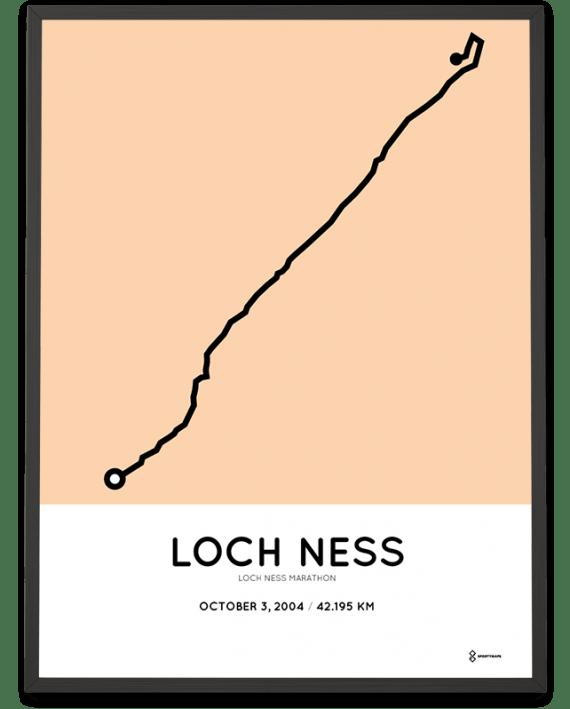 2004 Loch Ness marathon course poster