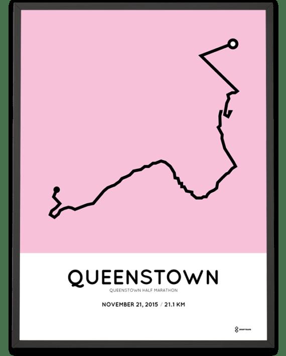 2015 Queenstown half marathoner map