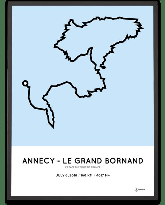 2018 L'Étape du Tour de France parcours poster