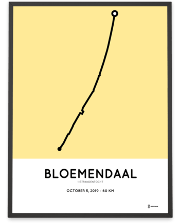 2019 11Strandentocht 60km parcours poster