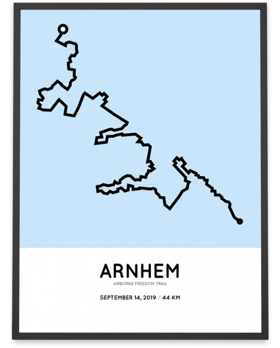 2019 Airborne freedom trail 44km route poster