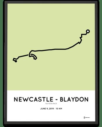 2019 Blaydon Race racetrace poster