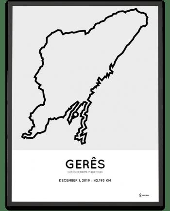 2019 Geres extreme marathon routemap print