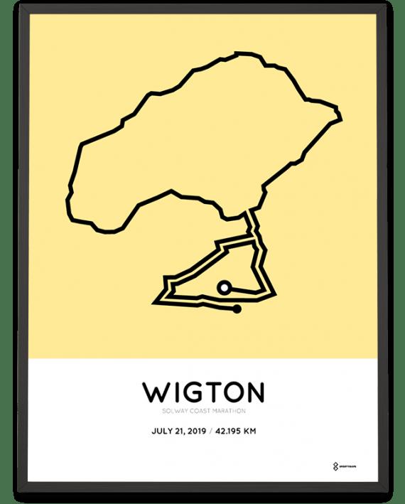 2019 Solway Coast Marathon racetrace poster