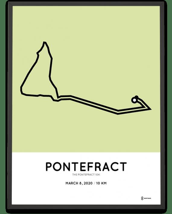 2020 Pontefract 10k racetrace poster