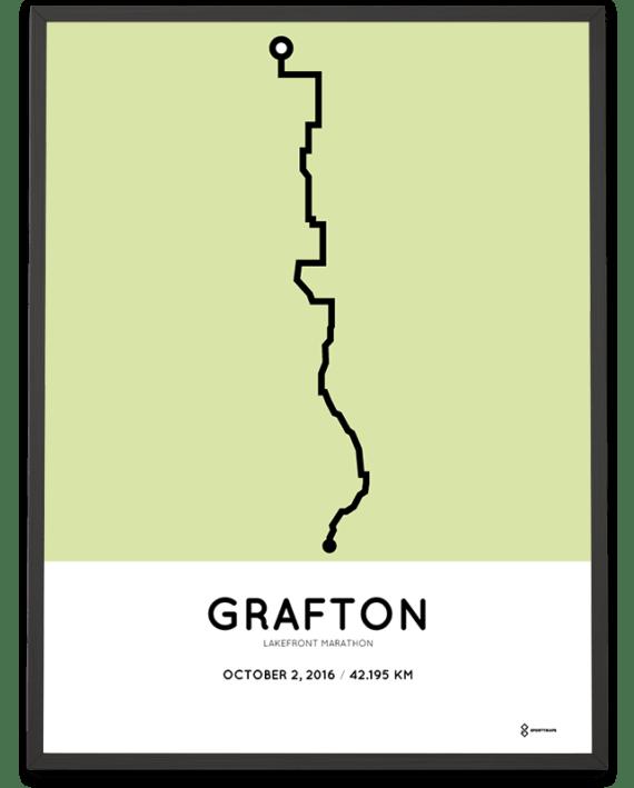 2016 Lakefront marathon course poster